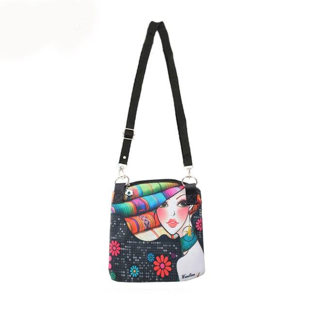 d616a74d168b Women Messenger Bags Vintage Canvas Printing Small Satchel Shoulder  European Style Girls Handbag Lady Crossbody Bag