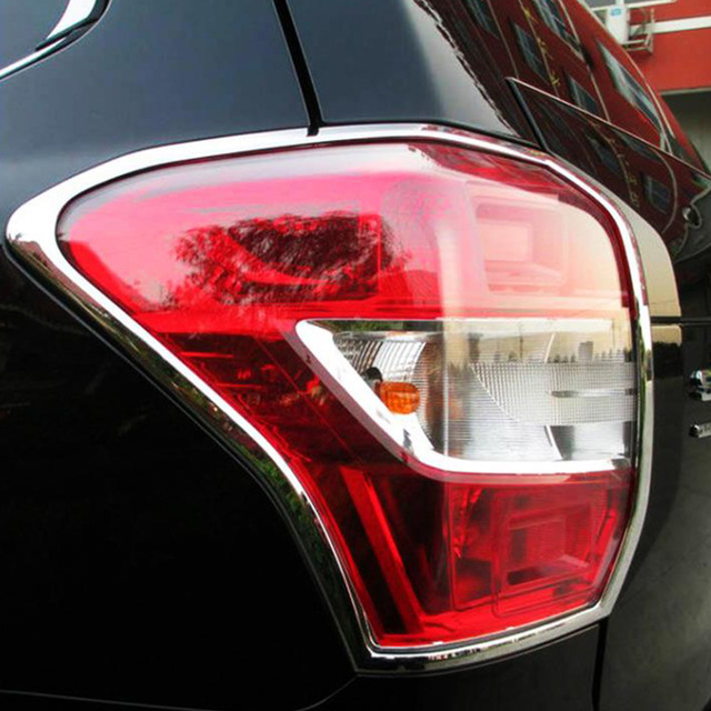 ABS Chrome For Subaru Forester 2014 2015 2016 2017 Car Tail Light cover Cover Trim hatchback accessories car styling 2pcsABS Chrome For Subaru Forester 2014 2015 2016 2017 Car Tail Light cover Cover Trim hatchback accessories car styling 2pcs
