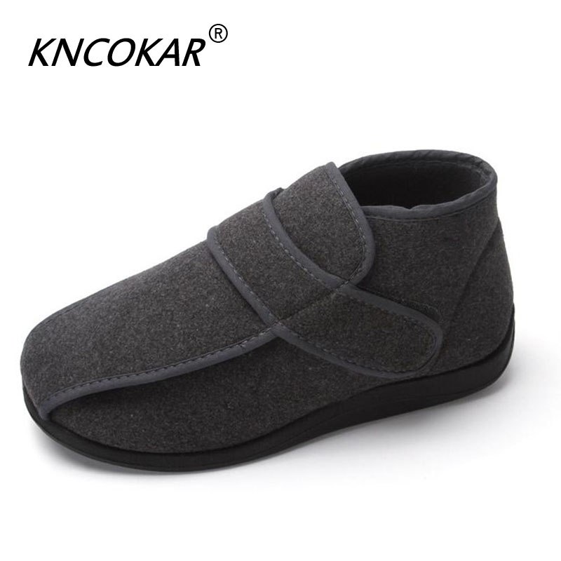 Men's Shoes Men's Boots Hot New High Help Warm Mens Shoes With Wide Shoes Feet Wide Feet And Swollen Feet Adjustable Blind Date Comfortable Safety Skillful Manufacture