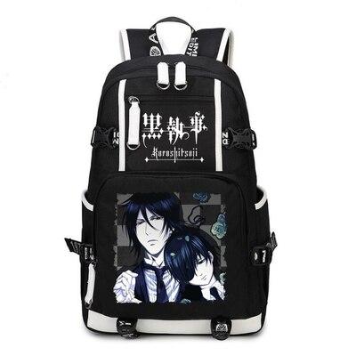Black Butler Backpack Cosplay Kuroshitsuji Ciel Phantomhive Canvas Bag Schoolbag Travel Bags
