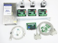 CNC Router Mach3 3 Axis Kit 3pcs TB6560 Driver 5 Axis Stepper Motor Controller 3pcs Nema17