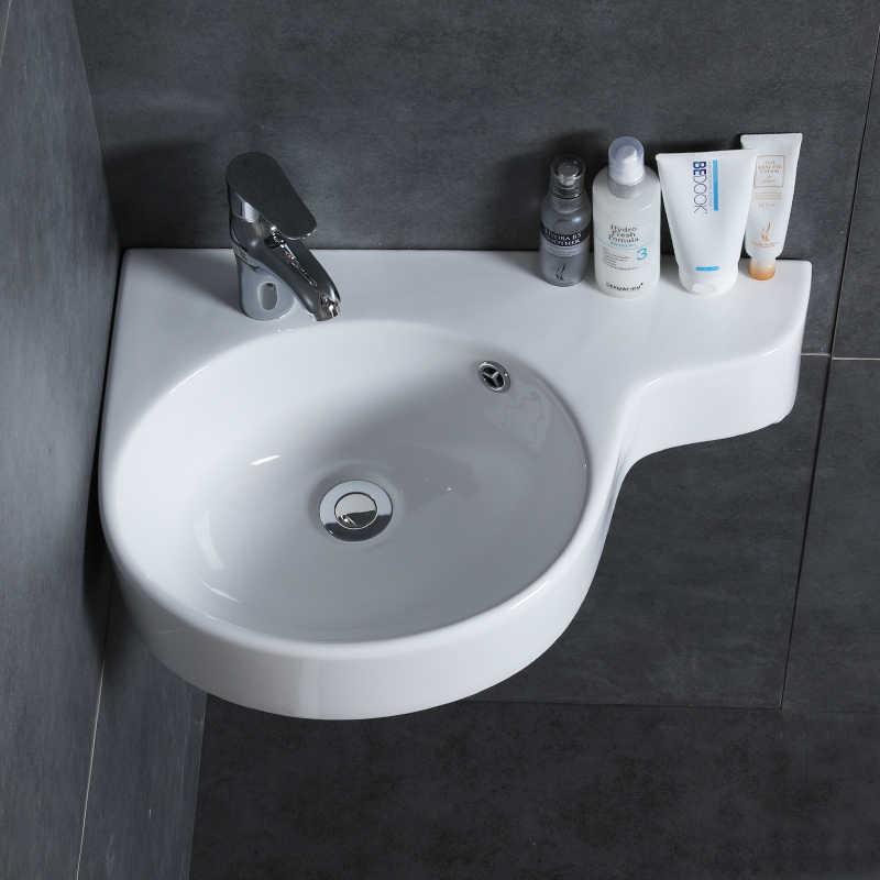 Bathroom corner basin hanging basin sink small mini ...