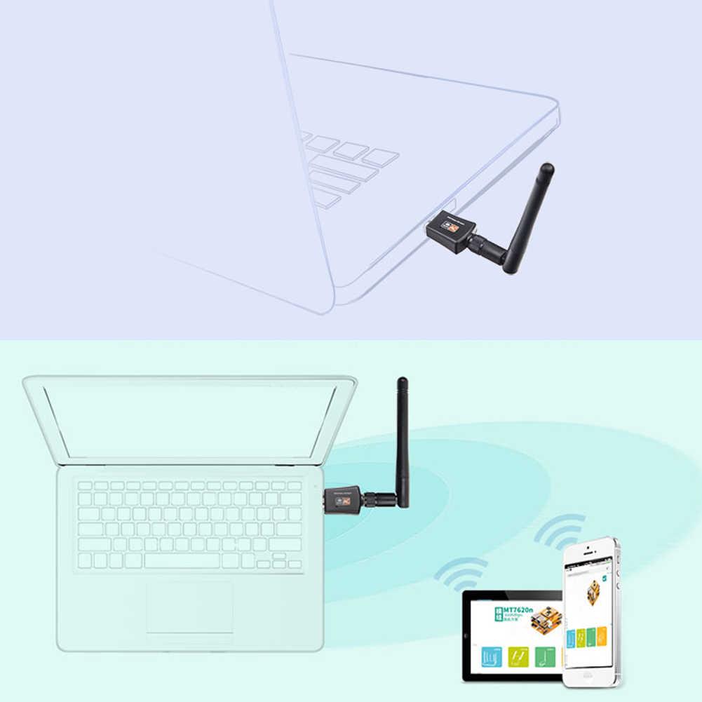 5ghz usb wifi adaptador 600mbps sem fio lan usb usb pc wifi antena suporte janela linx2.6x mac os 802.11ac usb placa de rede