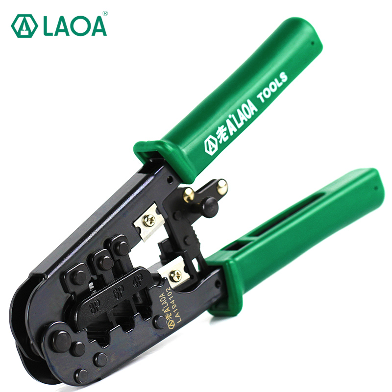 LAOA rachet crimping pliers 4/6/8P Portable LAN Network Tool Kit Utp Cable Tester Plier Crimper Plug clamp PC HandTool  цены