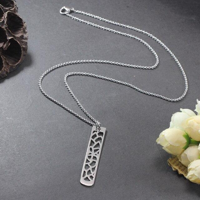 New Fashion Flower Pendant Bar Necklace  3