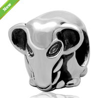 Original 925 Sterling Silver Elephant Charms Diy Beads Fits For Pandora Bracelet Jewelry For Women Free
