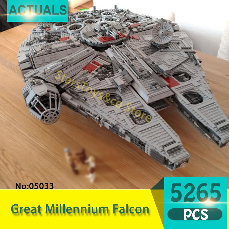 Lepin 05033 5265Pcs Great Millennium Falcon Model Building Blocks Set  Bricks Toys For Children Gift 10179 Star Series Wars lele 5265pcs star wars ultimate collector s millennium falcon model building kits blocks bricks toys for children gift 10179
