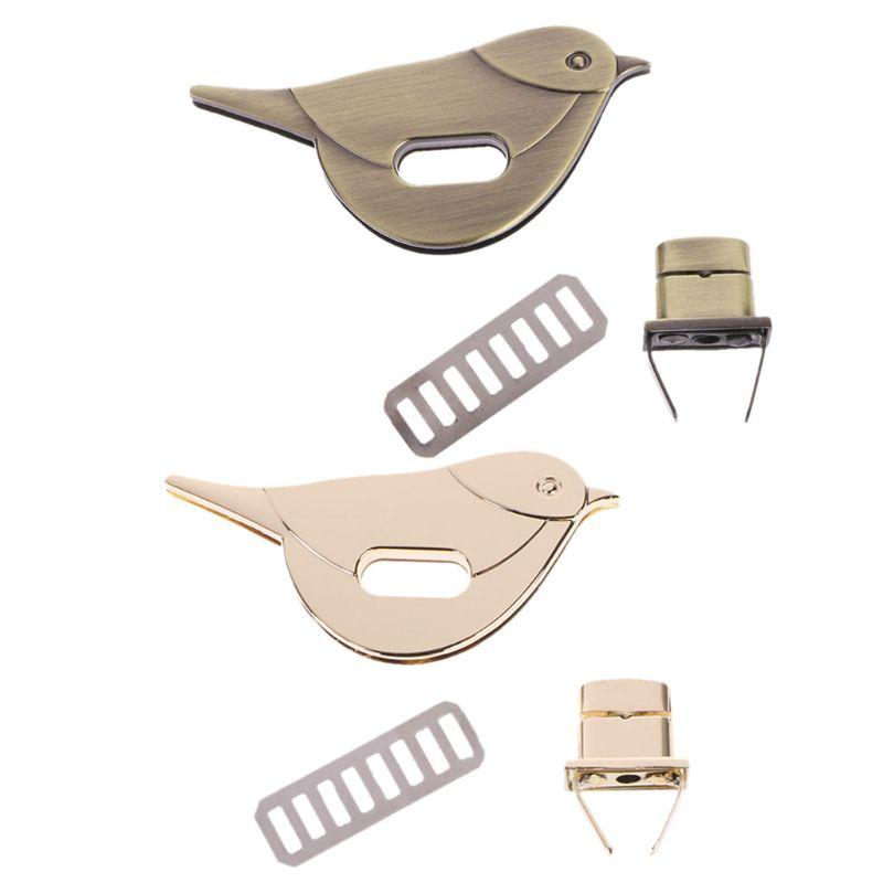 NoEnName_Null High Quality Zinc Alloy Bird Shape Clasp Turn Lock Twist Locks Metal Hardware For DIY Handbag Bag Purse