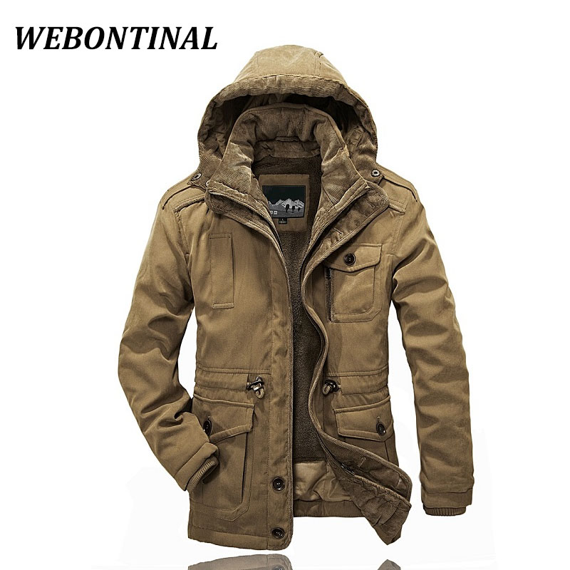 WEBONTINAL 2017 Brand Casual Winter Male Jackets Men Parkas Man Coat Overcoat Warm Hooded Thick Quality Velvet Padded Outerwear
