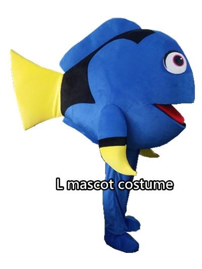 Custom made Nemo and Dory Fish Mascot Costumes Blue Fish Mascot costume for adult