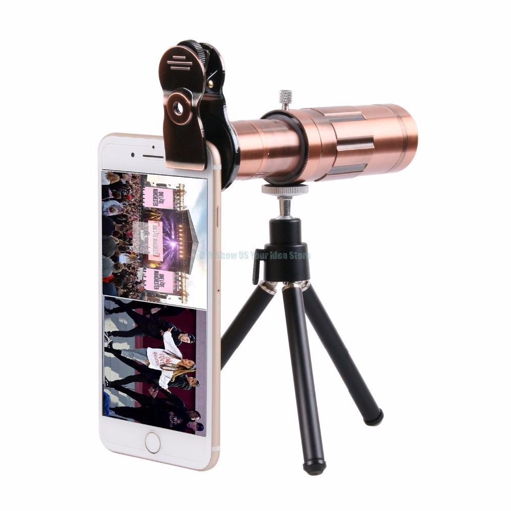 Profesional 20X Zoom 4K HD Cámara lente Kit Telephoto telescópico lente óptica para iPhone S amsung X IAOMI teléfono