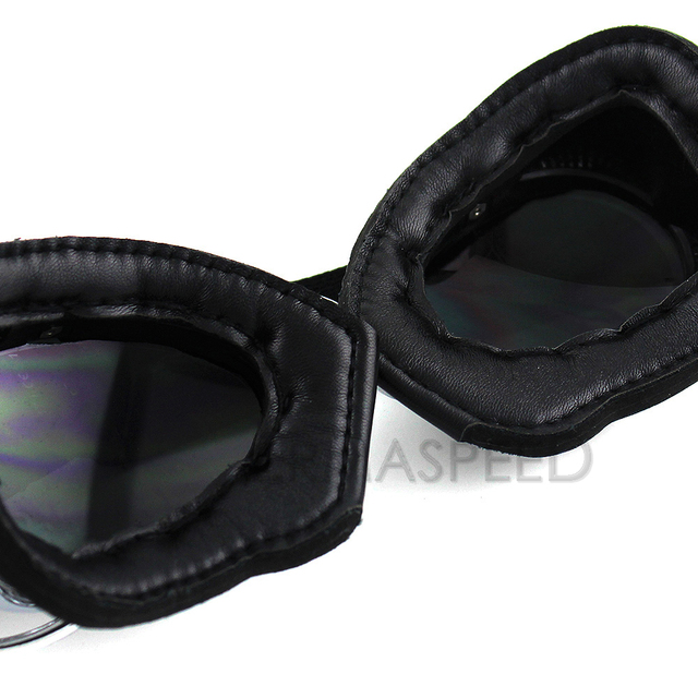 Motorcycle Goggles Retro Vintage Helmet Jet Ski Steampunk Goggles Moto Cross Pilot Glasses for Harley Chopper Cafe Racer