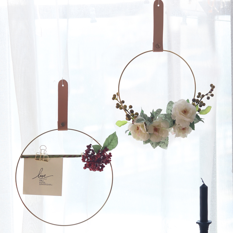 Set Of 10 Country Garden Flower Seed Wedding Favours With: Simulated Flower Ring Wall Hanging Door Decor Wedding