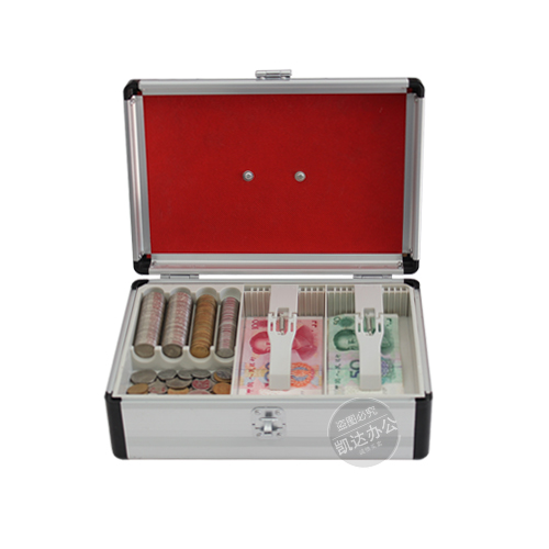 Plastic Aluminum Money Counter Case Cash Box With Combination Lock And Money Tray - Removable Money Compartment Tray
