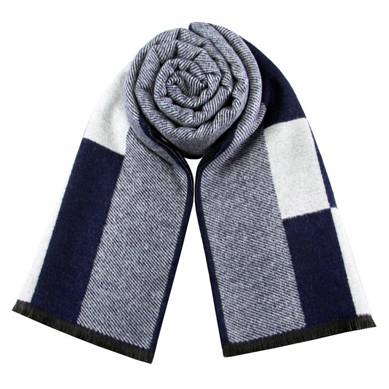 RUNMEIFA 2019 Classic Autumn & Winter Warm Plaid Man Scarf Cashmere Wool Panama Soft Striped Long Scarf High Quality 40 Colors