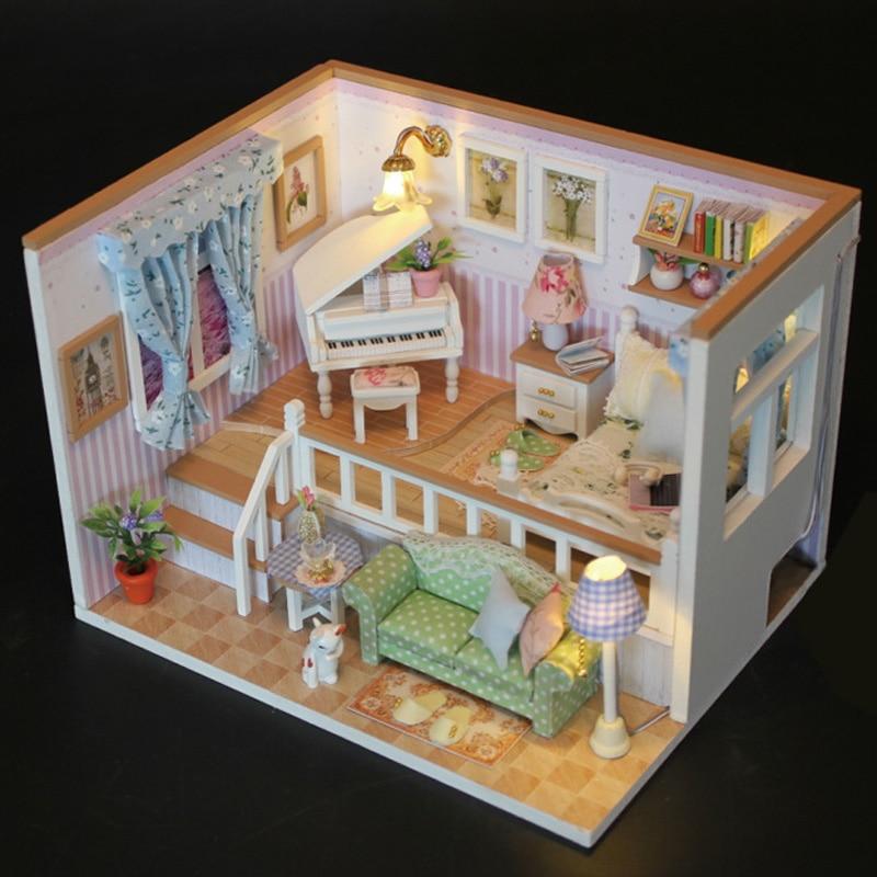 Warm Room diy Miniature Model Wood Doll