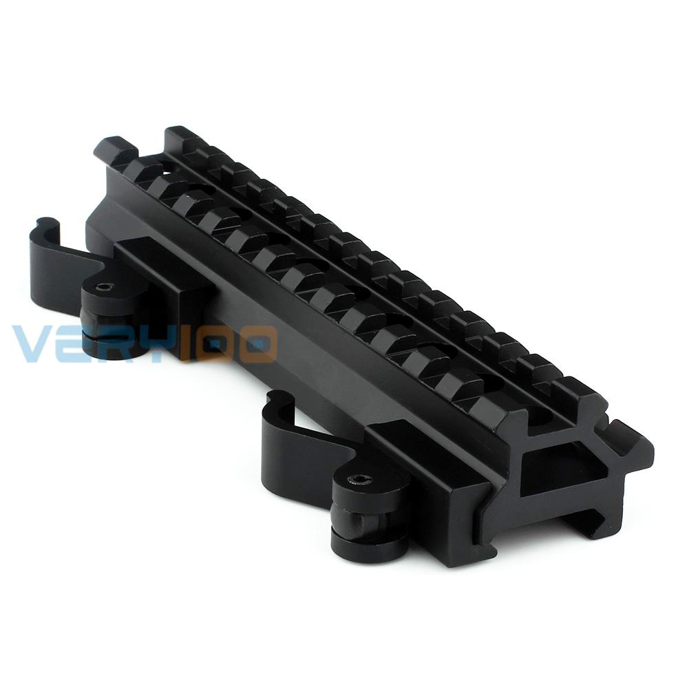 very100 20mm weaver picatinny rail scope mount double rail 13 slot angle mount quick detach us781. Black Bedroom Furniture Sets. Home Design Ideas