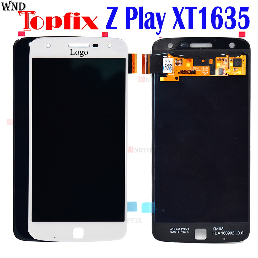 For Motorola Moto Z Play LCD <font><b>Display</b></font> With Touch Screen Digitizer Panel Assembly Replacement For Moto ZPlay LCD <font><b>XT1635</b></font> <font><b>Display</b></font> image