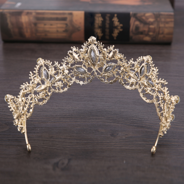 New Fashion Wedding Crystal Crown Hair Jewelry FORSEVEN Gold High quality Handmade Rhinestone Bridal Tiaras Crown Accessories