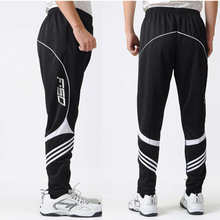 SYNSLOVEN Football pants adult men long autumn thin striopes training sport team soccer running jogging exercise with pocket