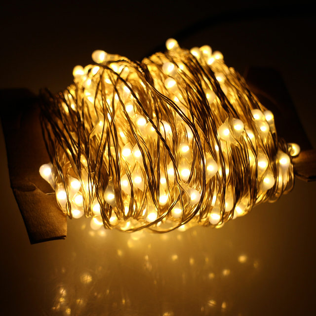 Us 31 99 40m 400 Led Outdoor Christmas Fairy Lights Warm White Silver Wire Led String Lights Starry Light Power Adapter Uk Us Eu Au Plug In Led