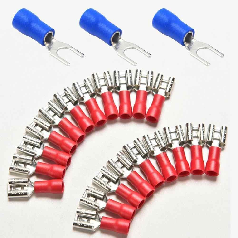 Кабель электрический терминал для кабеля изолированный терминал для соединения проводов кабель обжимной разъем плоская клемма комплект-KK