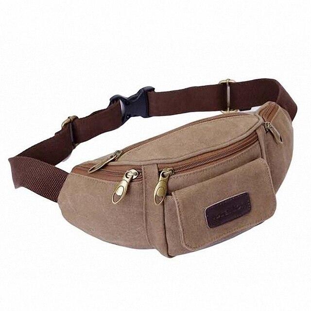 New 2016 Hot Multifunctional Canvas Waist Pack For Men And Women Travel Belt Bag waist bag Money Pouch LI-1132