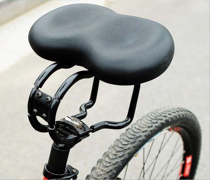 Adult Comfortable open noseless Bicycle Saddle Bicycle Parts Cycling Seat Mat Comfortable Cushion Soft Seat Cover for Bike coolchange bike seat comfortable saddle cover thick cushion bicycle sponge high elastic breathable cycling seat cushion cover