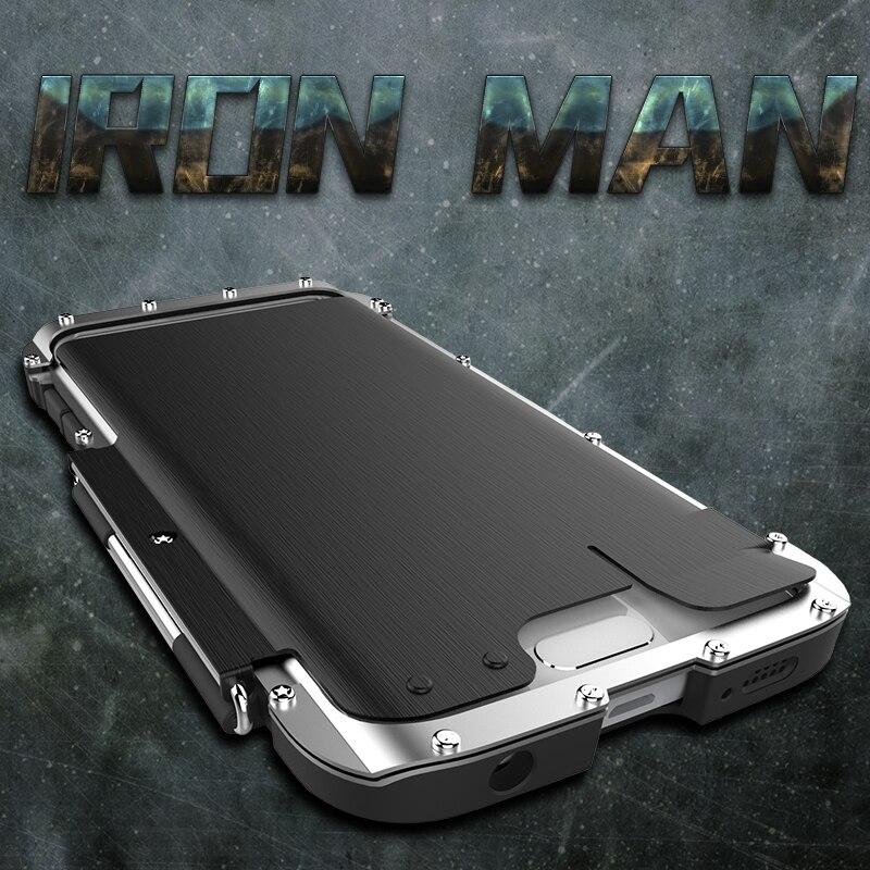 Armure roi fer homme acier inoxydable béquille Anti-coup Flip étui pour samsung Galaxy S6 Edge Plus antichoc Sport couverture - 3