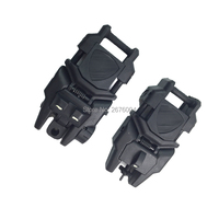 2 Pieces Tactical Noctilucent Flip Up Folding Front And Rear Back-Up Sight For 20mm Weaver Rail Mounts  Hunting Accessories