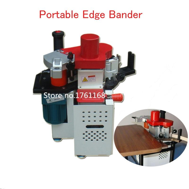 Portable Edge Bander Adjustable Speed Control Manual Edge Banding Machine 110V/220V JBT90 Woodworking Machine