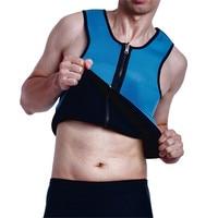 NINGMI Male Slimming Vest Neoprene Latex Body Shaper Swear Sauna Belt Corset Posture Belly Waist Trainer