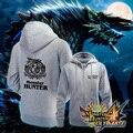 Hoody homens mulheres Tops Monster Hunter Cosplay moletom com zíper casacos de inverno Anime Hoodie para homens adolescentes