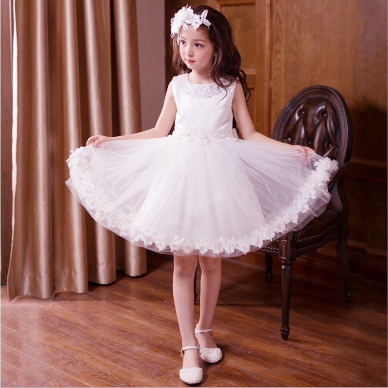 2018 new Girls Dress floral Children Wedding Party  Dresses Kids Evening Ball Gowns regular Baby Frocks Clothes for Girl girls dress 2017 new summer flower kids party dresses for wedding children s princess girl evening prom toddler beading clothes