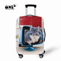 ONE2 2017 New Design Custom Suitcase Cover Animals Printing With Cute Hamster For Kids Children Apply