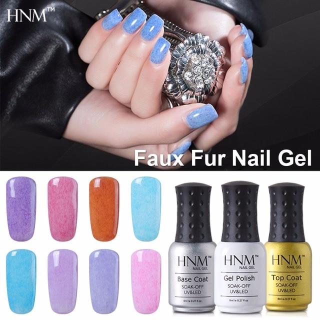 Hnm 8ml Faux Fur Nail Polish Soak Off Nagellak Nail Art Stamping