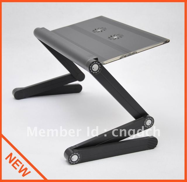 """Folding Laptop table Bed Table Desk Stand with USB Cooling Fan Cooler,up to 17"""","""