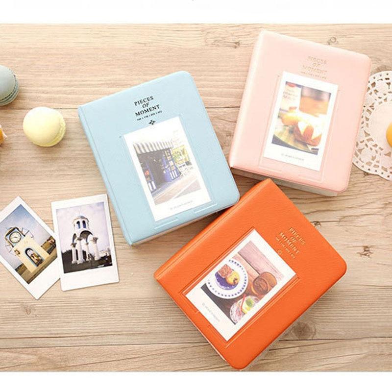 64 bolsillos para Fujifilm Instax Mini películas Instax Mini 8 7s 70 25 50s 90 tarjetas de nombre piezas de momento álbum de foto libro
