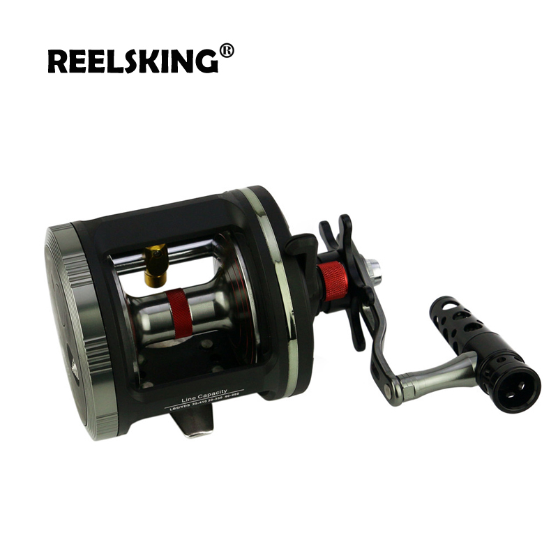 Image 3 - REELSKING Corrosion protection Black and Sliver Cast Drum Wheel  Right Hand MAX DRAG 25 Sea Bait Casting Fishing ReelsFishing Reels   -