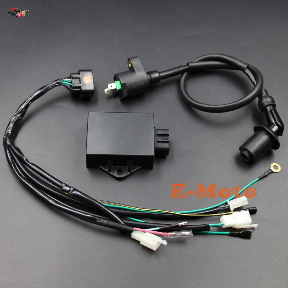 Complete Wire Wiring Harness Loom Ignition Coil 8 Pin CDI Kits for LIFAN W150cc ZS155cc PIT aliexpress com buy complete wire wiring harness loom ignition 8 wire wiring harness at mifinder.co