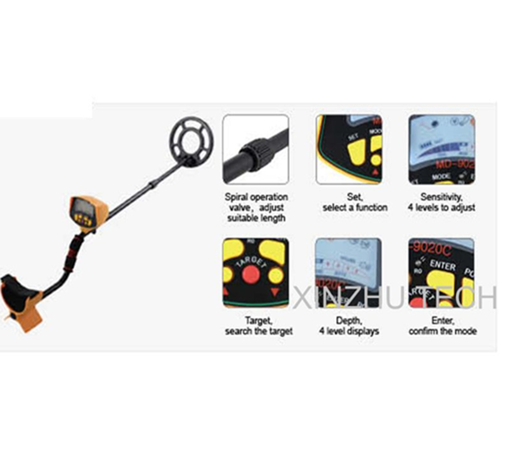Md 9020c Underground Metal Detector Gold Digger Md9020c Treasure Schematicmetal Schematic Pdfmetal Pinpointer Hunter 3010ii Updated Model In Industrial Detectors From Tools On