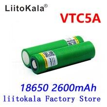 Liitokala מקס 40A דופק 60A פריקה המקורי 3.6V 18650 US18650 VTC5A 2600mAh גבוהה ניקוז 40A סוללה