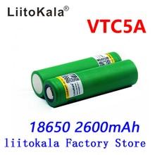 Liitokala Batería de drenaje alto, 40A, 60A, 3,6 V, 18650 US18650, VTC5A, 2600mAh