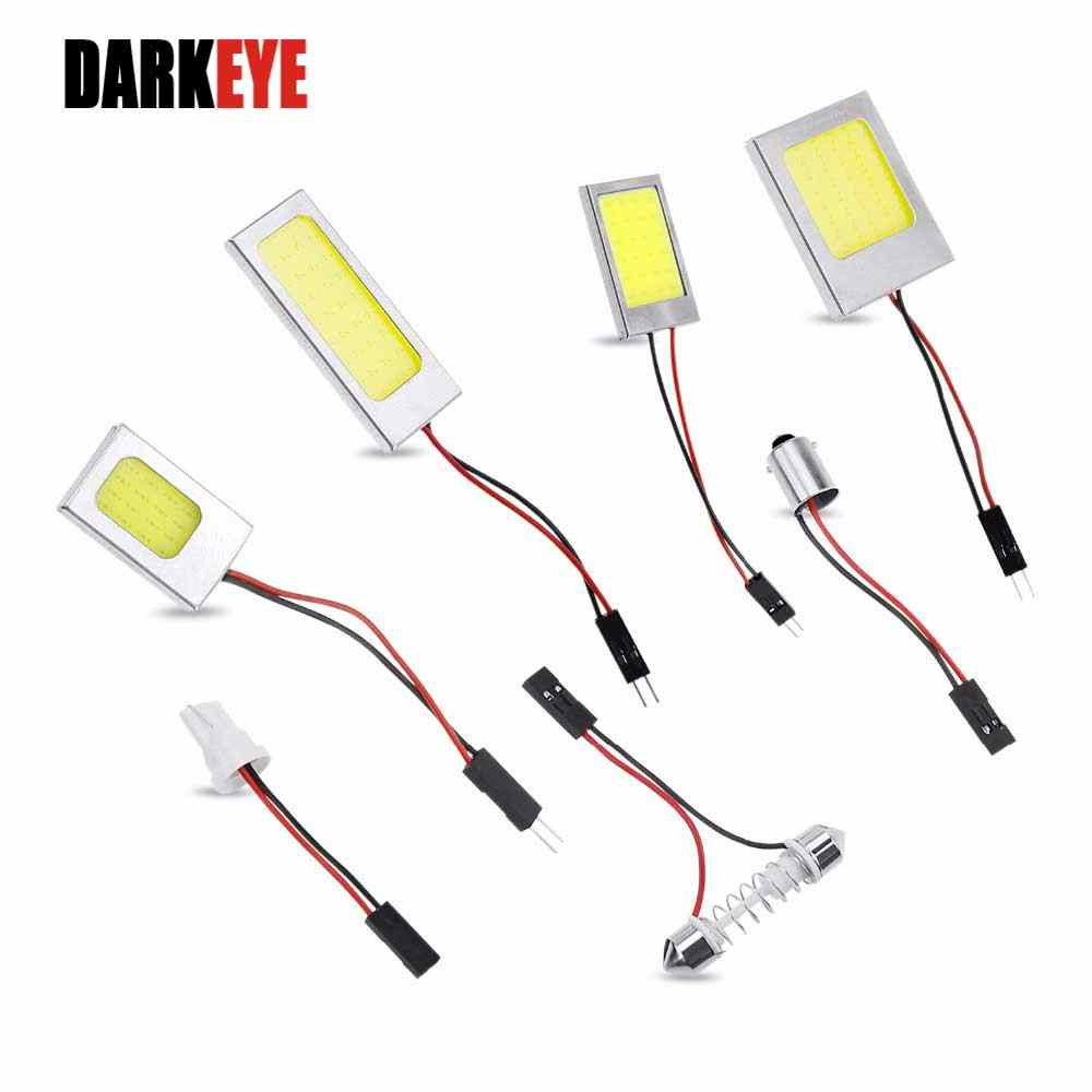 T10 Mobil LED Panel Lampu Baca Adaptor W5W BAS9S Festoon 31-42 Mm C5W Dome Lampu COB Papan 18/24/36/48 SMD Mobil Interior Lampu