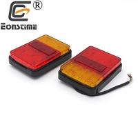 Eonstime 2pcs 12V 24V Waterproof 30LED Taillights Rear Tail Light DC Trailer Truck Boat Car Styling