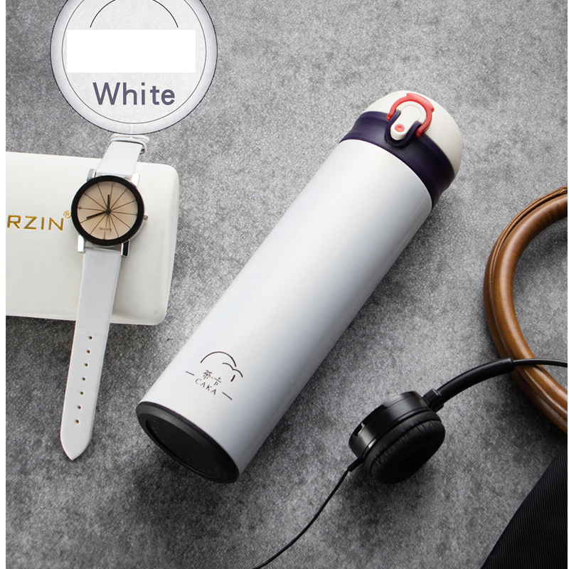 500ml Double Wall Thermos Bottle Stainless Steel Thermocup Bouncing Cover Insulated Vacuum Flask Portable Travel Thermos Cup in Vacuum Flasks Thermoses from Home Garden