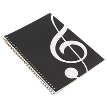 цена 50 Pages Treble symbol Manuscript Paper Stave Notation Notebook Spiral Bound planner bullet journal agenda diary sketchbook cu#8 онлайн в 2017 году
