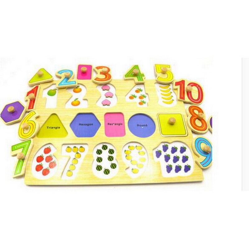 1 шт. видеть-внутри номера головоломки для маленьких мальчиков и девочек головоломки Дети раннего образования игрушки