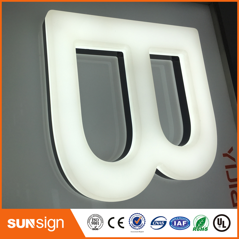 LED Letter Signs With Stainless Steel Frame