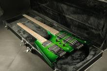 In stock green flamed maple top double neck headless electric guitar bass guitar guranteed quality free shipping 2016 free shipping 2015 new telecaster electric guitar neck in maple wood 22 fret